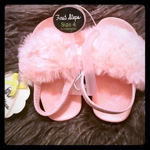 Faux Fur Infant Sandals